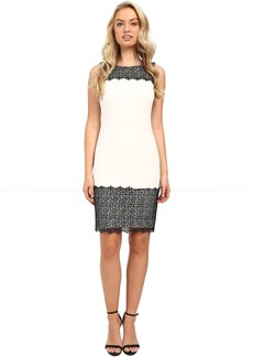 Calvin Klein Sheath with Lace Detail