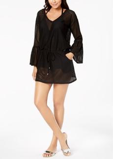 Calvin Klein Sheer Bell-Sleeve Cover-Up Women's Swimsuit