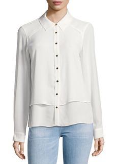 Calvin Klein Sheer Buttoned Blouse