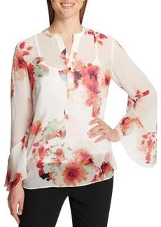 Calvin Klein Sheer Floral Blouse