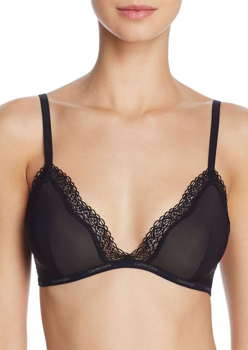 On Sale today! Calvin Klein Calvin Klein Sheer Marquisette Lace-Trim ... 3501c6bb5