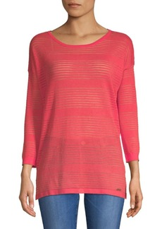 Calvin Klein Sheer Roundneck Sweater