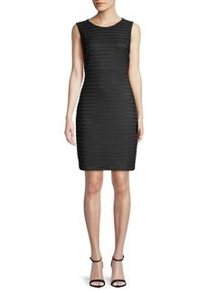 Sheer Stripe Sheath Dress