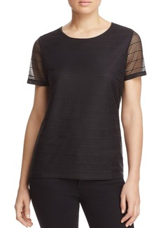 Calvin Klein Sheer Stripe Top