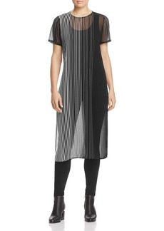 Calvin Klein Sheer Stripe Tunic