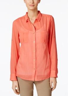 Calvin Klein Sheer Utility Shirt