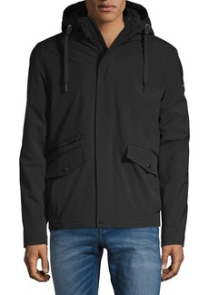 Calvin Klein Faux Shearling-Lined Hooded Jacket