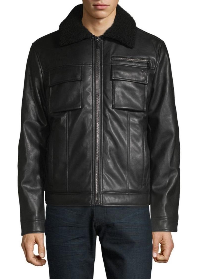 Calvin Klein Sherpa-Trimmed Trucker Jacket