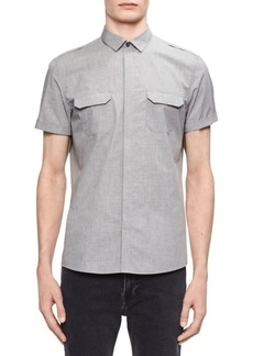 Calvin Klein Short-Sleeve Button-Down Shirt