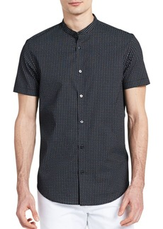 Calvin Klein Printed Cotton Button-Down Shirt