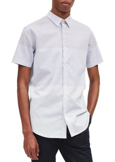 Calvin Klein Short-Sleeve Gradation Square-Print Button-Down Shirt