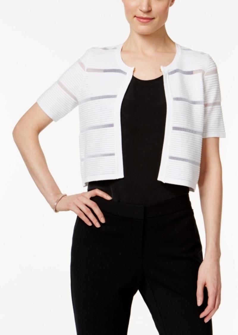 Calvin Klein Calvin Klein Short-Sleeve Illusion-Inset Shrug ...