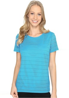 Calvin Klein Short Sleeve Lace Knit Top