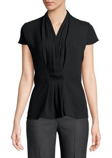 Calvin Klein Short Sleeve Pleated Blouse