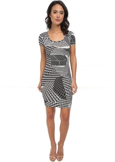 Calvin Klein Short Sleeve Printed Jersey Dress CD5AX7A3