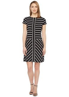Calvin Klein Short Sleeve Stripe T-Shirt Dress