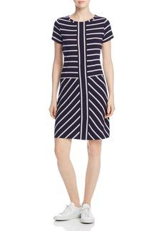 Calvin Klein Short-Sleeve Striped T-Shirt Dress