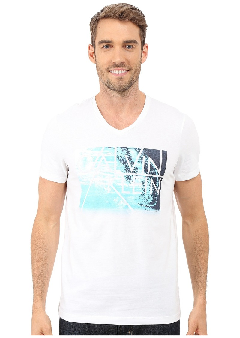 Calvin Klein Short Sleeve Water Front Photo Tee