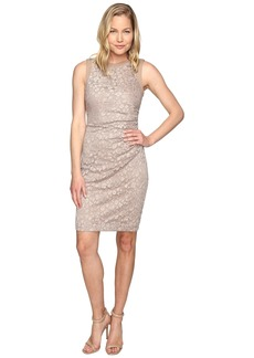 Calvin Klein Side Ruched Lace Sheath Dress CD6L1Q6Q