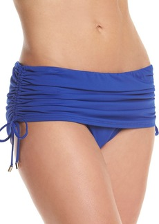 Calvin Klein Side Shirred Swim Skirt Bottoms