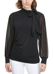 Calvin Klein Side-Tie Blouse