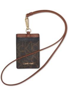 Calvin Klein Signature Leather Lanyard