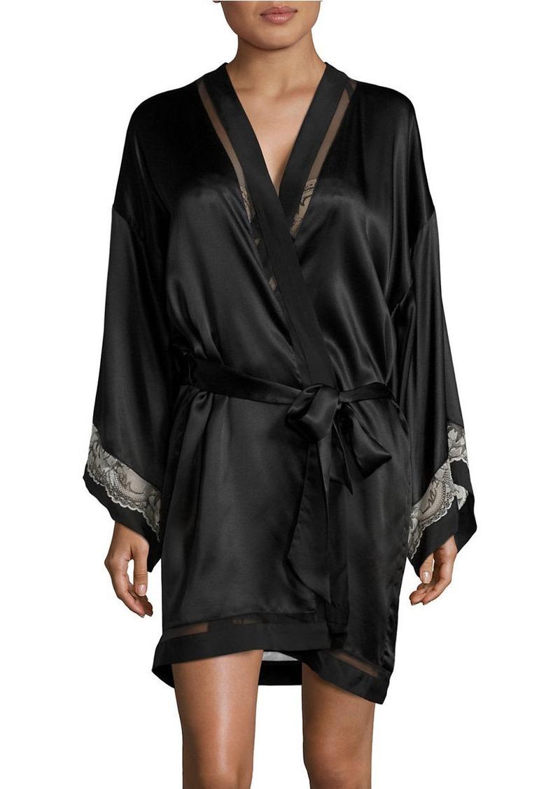 CALVIN KLEIN Embrace Lace-Band Kimono Robe