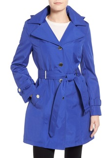 Calvin Klein Single Breasted Belted Trench Coat (Regular & Petite)