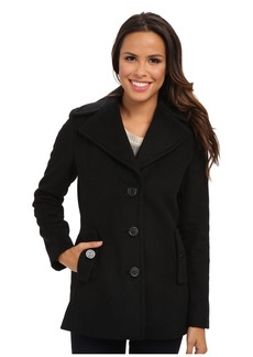 Calvin Klein Single Breasted Wool Blend Peacoat CW387007