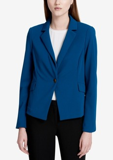 Calvin Klein Petite Single-Button Crepe Blazer