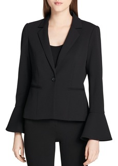 Calvin Klein Single-Button Flared-Cuff Blazer