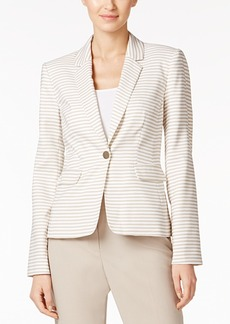 Calvin Klein Single-Button Striped Blazer