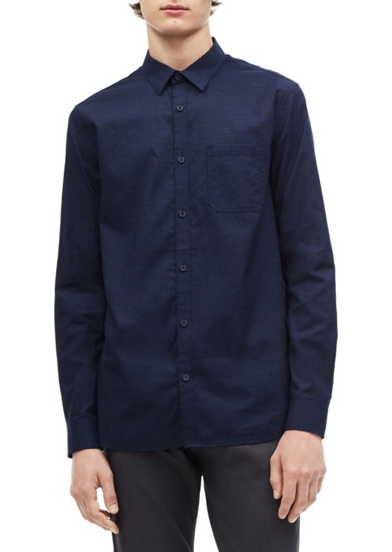 Calvin Klein Single-Pocket Indigo Workwear Shirt