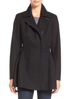 Calvin Klein Skirted Wool Blend Jacket