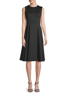 Calvin Klein Sleeveless A-Line Midi Dress