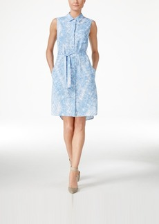 Calvin Klein Sleeveless Belted Shirtdress