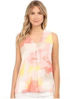Calvin Klein Sleeveless Blouse w/ Invert Pleat
