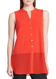 Calvin Klein Sleeveless Button-Down Blouse