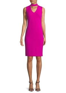 Calvin Klein Sleeveless Choker Dress