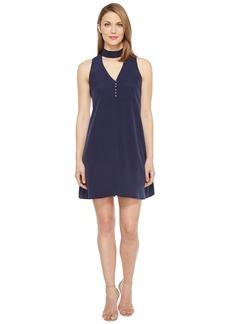 Calvin Klein Sleeveless Choker Dress with Button