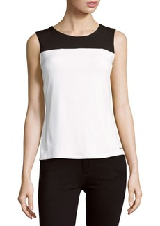 Calvin Klein Sleeveless Colorblock Top