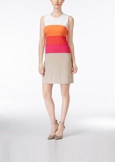 Calvin Klein Sleeveless Colorblocked Sheath Dress