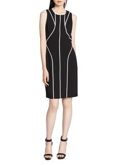 Calvin Klein Sleeveless Contrast-Trim Sheath Dress