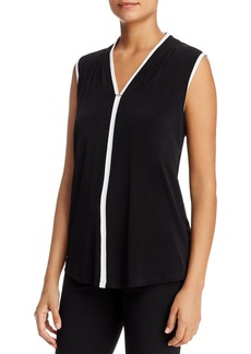 Calvin Klein Sleeveless Contrast-Trim Top