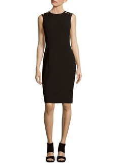 Calvin Klein Sleeveless Crewneck Dress