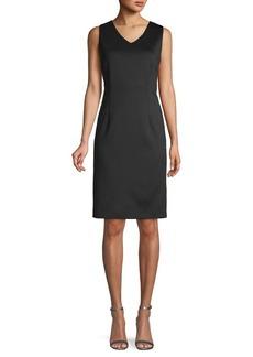 Calvin Klein Sleeveless Asymmetric Sheath Dress