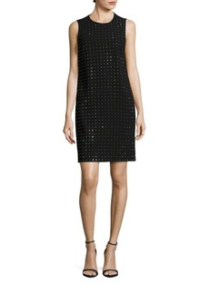 Calvin Klein Sleeveless Dotted Sparkle Shift Dress