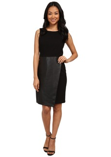Calvin Klein Sleeveless Dress w/ Faux Leather Flap