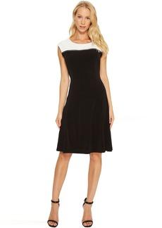 Calvin Klein Sleeveless Dress with Zipper Yoke