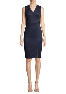 Calvin Klein Sleeveless Faux Wrap Dress